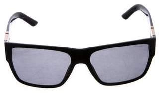 Versace Polarized Wayfarer Sunglasses