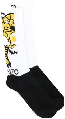 Kenzo tiger logo socks