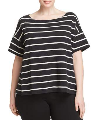 Eileen Fisher Plus Striped Boatneck Top