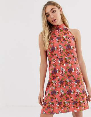 Glamorous printed halterneck dress