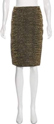 Lanvin Metallic Pencil Skirt