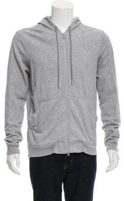Theory 38 Mélange Zip-Front Hoodie