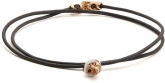 Luis Morais Double-wrap skull bracelet