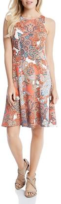 Karen Kane Paisley Print Flare Dress $109 thestylecure.com