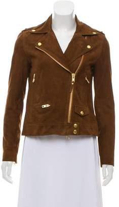 Pam & Gela Suede Lace-Up Jacket