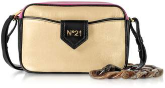 N°21 N.21 N21 Phard Black And Fuchsia Leather Camera Bag