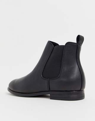 Jack and Jones chelsea boots in black