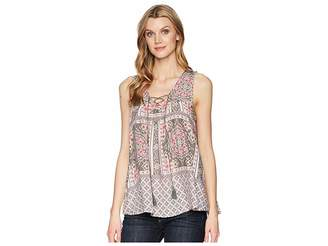 Roper 1574 Sleeveless Scarf Print Peasant Top Women's Clothing