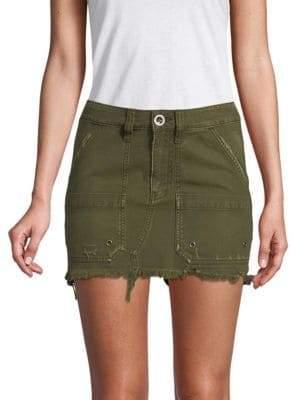 Free People Frayed Mini Skirt