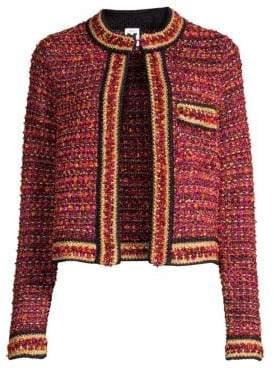 M Missoni Women's Tweed Jacket - Orange - Size 40 (4)
