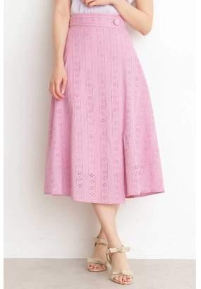 BODY DRESSING (ボディ ドレッシング) - プロポーションボディドレッシング コットンアイレットミディフレアースカート