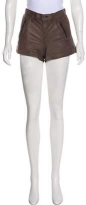 Rag & Bone Leather Mini Shorts