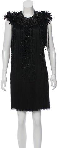 pradaPrada Embellished Mini Dress