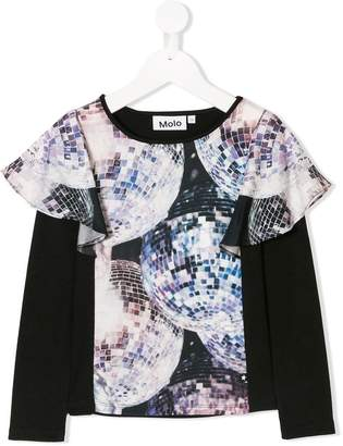 Molo disco ball frilled tee