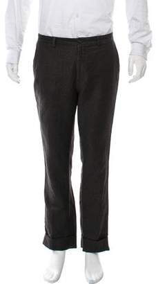 John Varvatos Cropped Flat Front Dress Pants