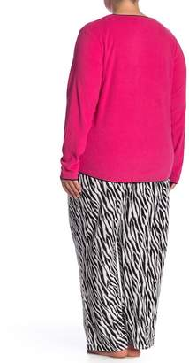 Hue Frosty Zebra 2-Piece Pajama Set