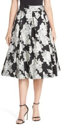 Women's Eliza J Floral Print Organza Midi Skirt $148 thestylecure.com