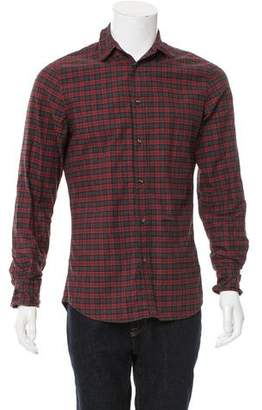 DSQUARED2 Woven Plaid Button-Up Shirt