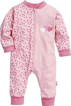 Playshoes Baby Girls Pyjama Overall Jersey Hearts Sleepsuit,(Manufacturer Size: 68)