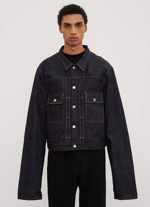 Clamp Long Sleeve Denim Jacket in Blue