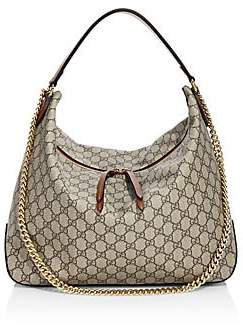 Gucci Women's Linea Large GG Supreme Canvas Hobo Bag