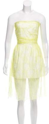 Valentino Strapless Lace Dress