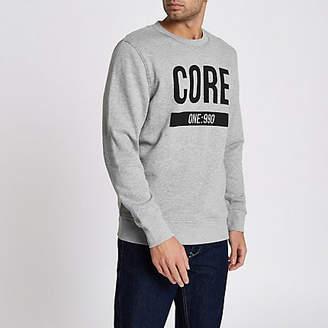 River Island Jack and Jones Core grey marl print sweatshirt