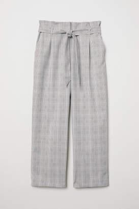 H&M Paper-bag Pants - Gray