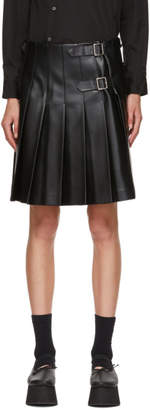 Comme des Garcons Black Faux-Leather Back Panel Skirt