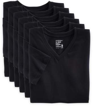 Jockey Men's 6-pack StayNew V-neck Tees