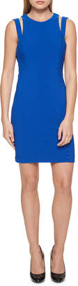 GUESS Split-Shoulder Bandage Cocktail Dress