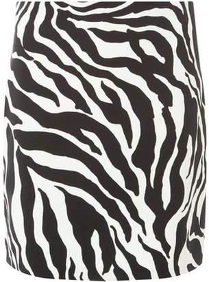 Dorothy Perkins Womens Black and White Zebra Print Mini Skirt