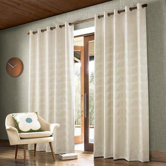 Orla Kiely Jacquard Stem Eyelet Curtains - Clay - 165x183cm