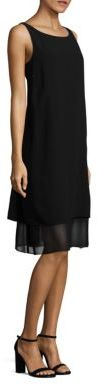 Eileen Fisher Layered Silk Shift Dress $398 thestylecure.com