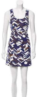Tibi Printed Mini Dress