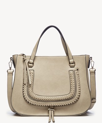 Sole Society Destin Satchel Vegan Studded Whipstich Satchel