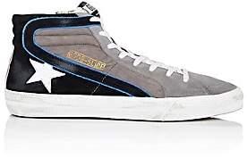 Golden Goose Men's Slide Suede & Nubuck Sneakers-Gray