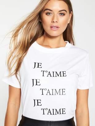 Whistles Je T'aimePrinted Logo T-Shirt -White