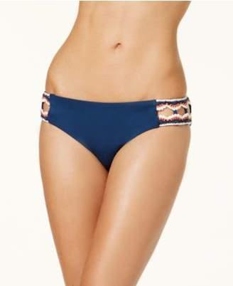 Becca Medina Crochet-Trim Hipster Bikini Bottoms