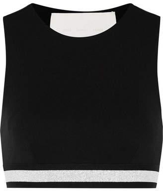 NO KA 'OI NO KA'OI Lolina Striped Stretch Sports Bra - Black