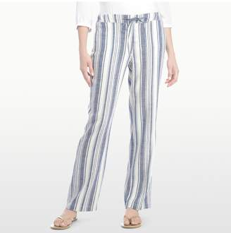 NYDJ JAMIE RELAXED ANKLE IN STRIPED LINEN