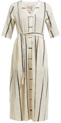 Ace&Jig Leelee Striped Cotton Midi Dress - Womens - White
