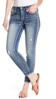 Kensie Beaded Skinny Jeans