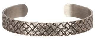 LINK-UP Embossed Basketweave Textured Cuff Bracelet