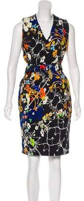 Preen by Thornton Bregazzi Floral Print Sheath Dress