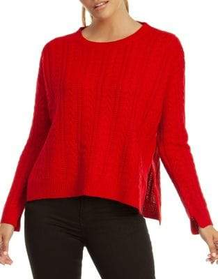 Dex Long-Sleeve Cable-Knit Sweater