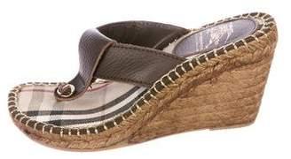 Burberry Slide Wedge Sandals