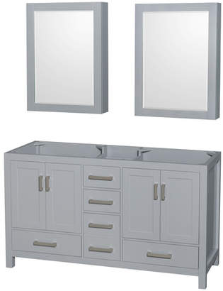 """Wyndham Collection Sheffield 59"""" Double Bathroom Vanity Base Only Base"""