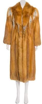 Fox Fur Long Coat