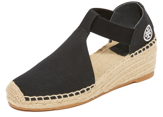 Tory Burch Catalina 2 Wedge Espadrilles $175 thestylecure.com